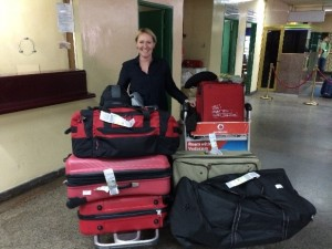 Tanzania donations from schools and teachers enroute