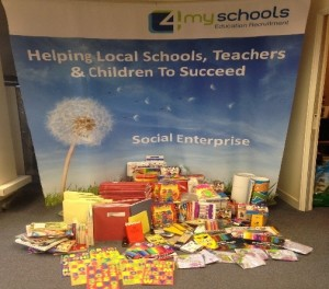 Donations collected from schools and supply teachers for children in Tanzania