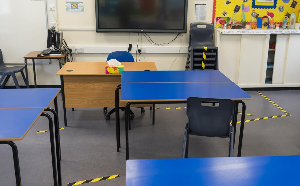 empty schools classroom